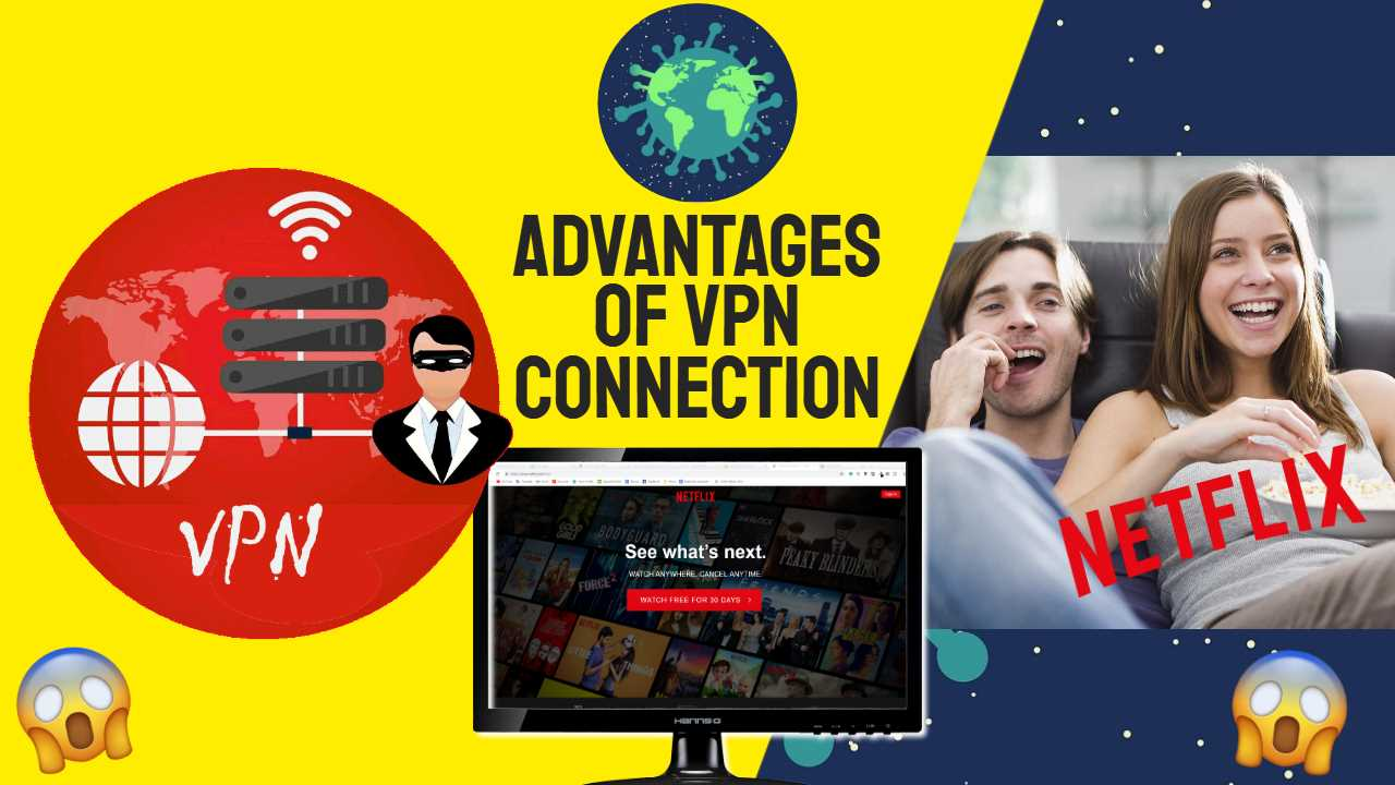 "Image text: ""Advantages of VPN Connection"""