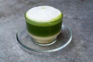 with milk green tea
