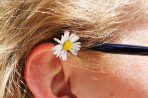 daisy-worn on ear